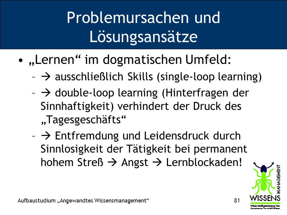 Problemursachen und Lösungsansätze