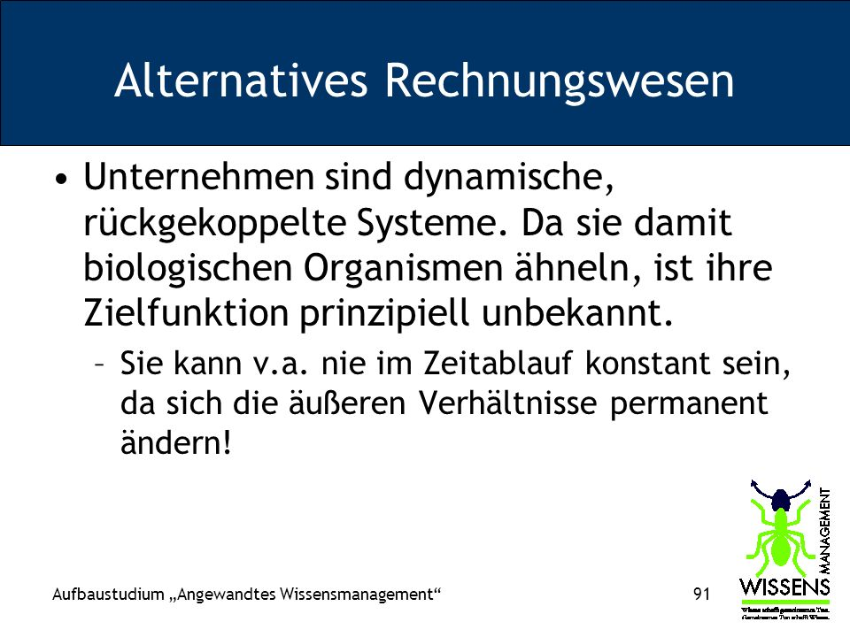 Alternatives Rechnungswesen