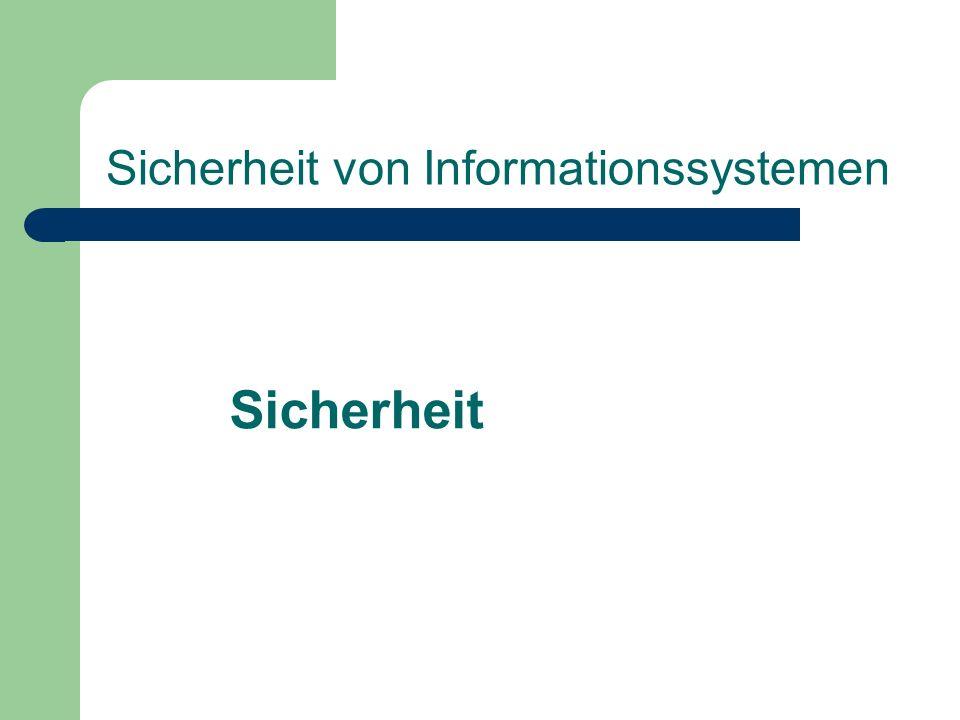 Sicherheit von Informationssystemen