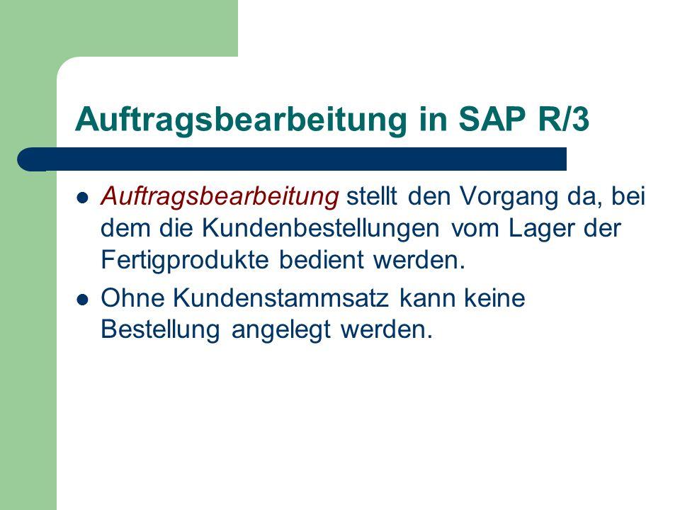 Auftragsbearbeitung in SAP R/3