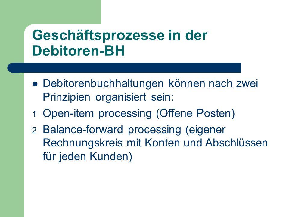 Geschäftsprozesse in der Debitoren-BH