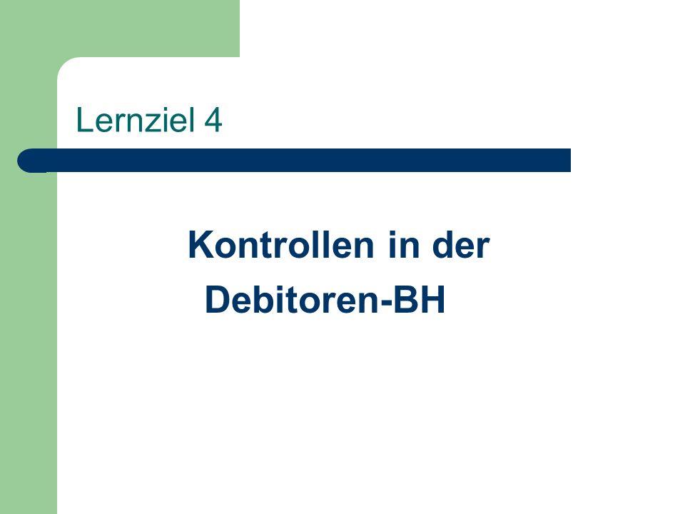 Kontrollen in der Debitoren-BH