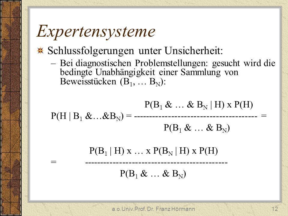 a.o.Univ.Prof. Dr. Franz Hörmann