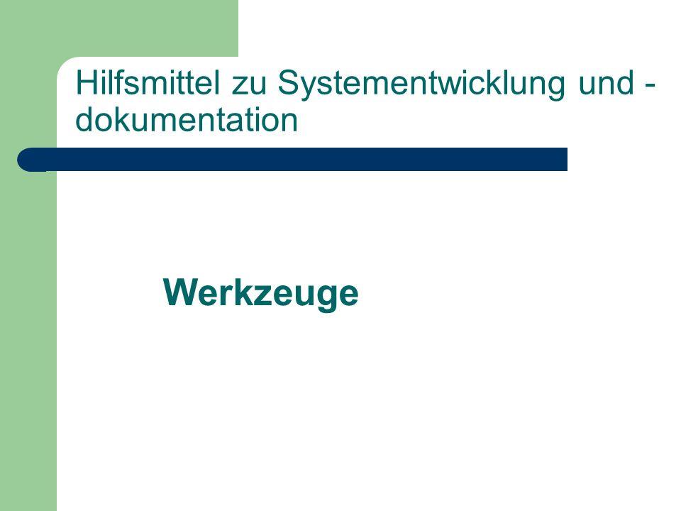 Hilfsmittel zu Systementwicklung und -dokumentation
