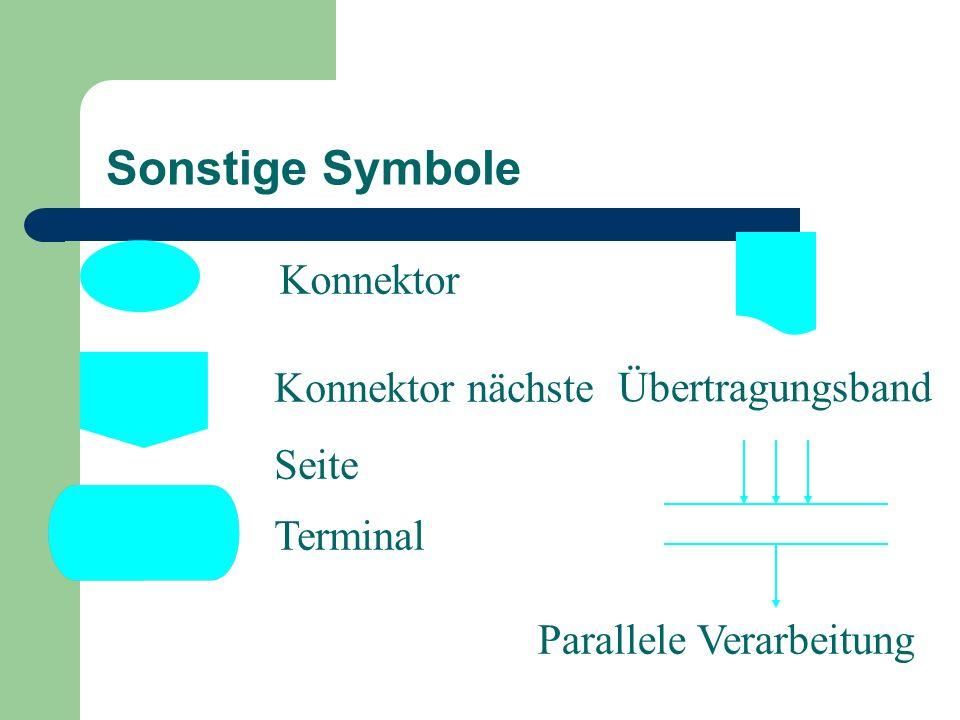 Sonstige Symbole Konnektor Konnektor nächste Übertragungsband Seite