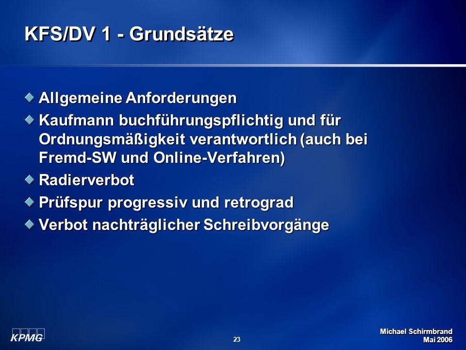 KFS/DV 1 - Grundsätze Allgemeine Anforderungen