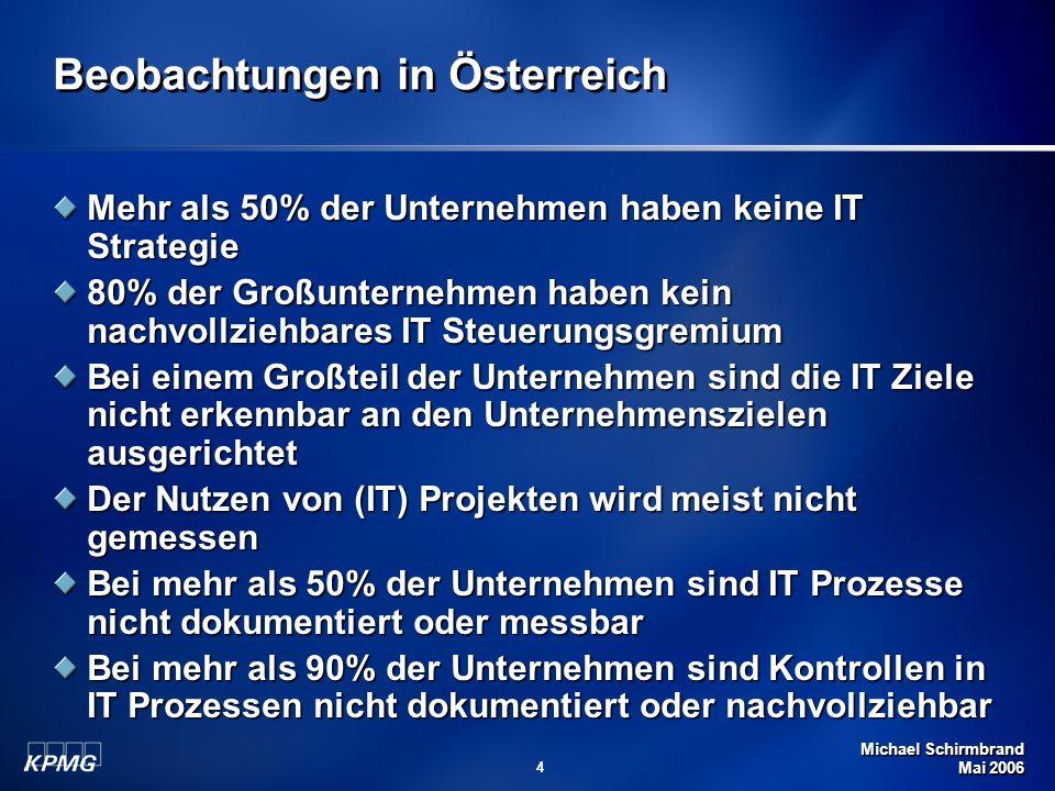 Beobachtungen in Österreich