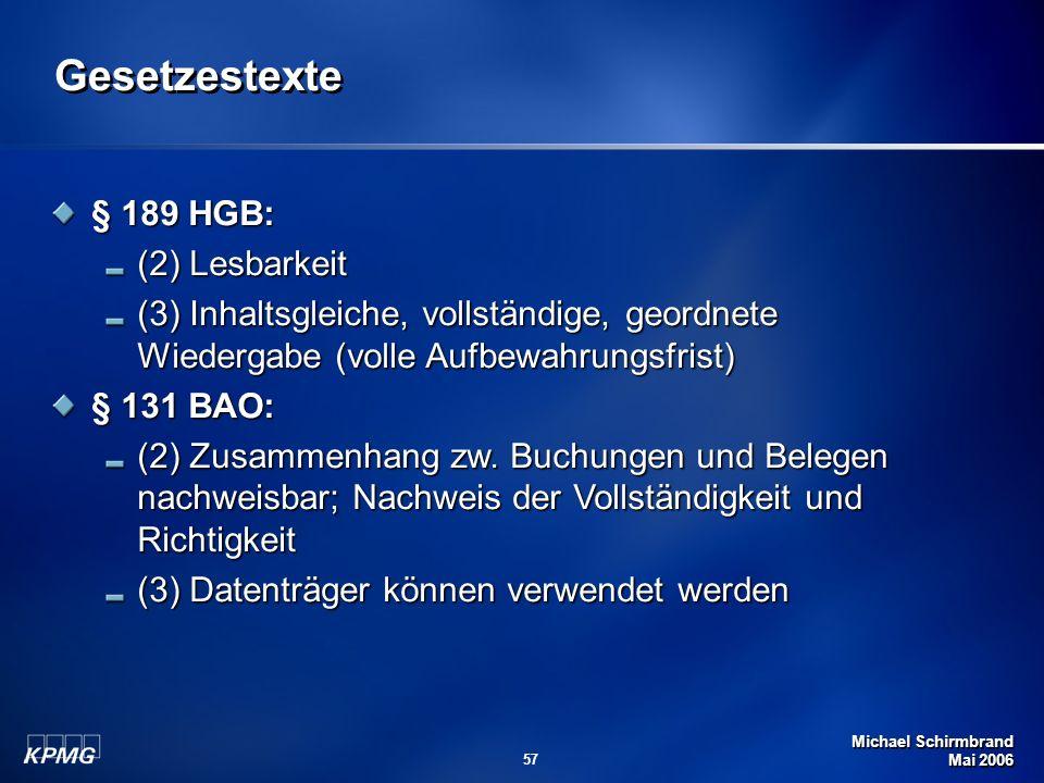 Gesetzestexte § 189 HGB: (2) Lesbarkeit