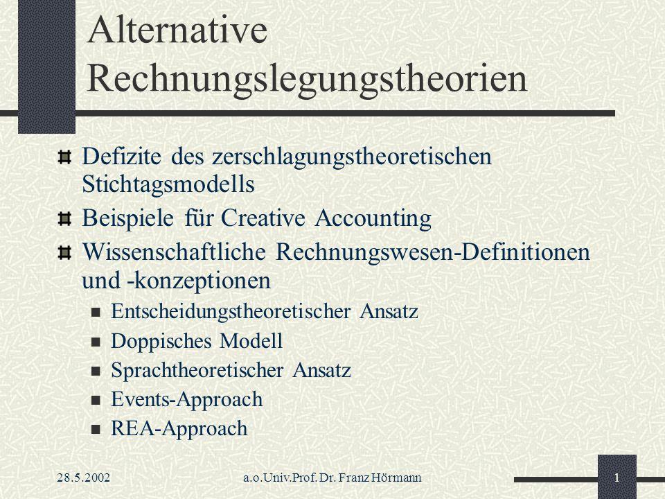 Alternative Rechnungslegungstheorien