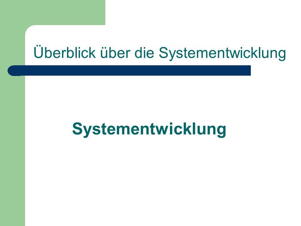 Überblick über die Systementwicklung