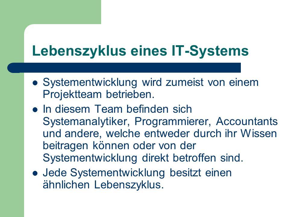 Lebenszyklus eines IT-Systems
