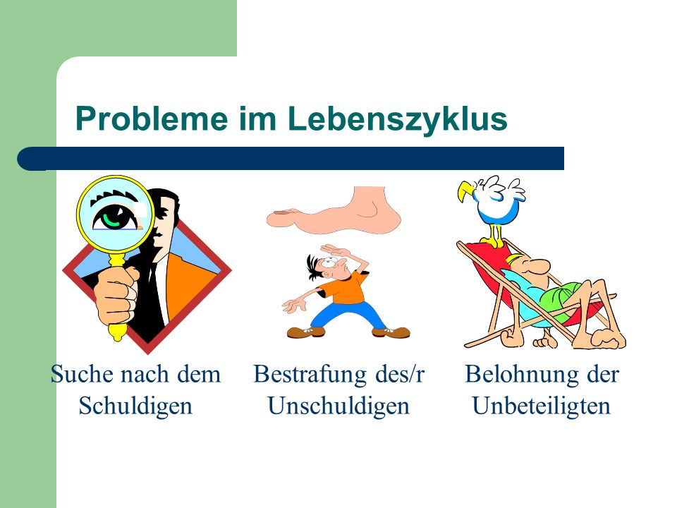 Probleme im Lebenszyklus