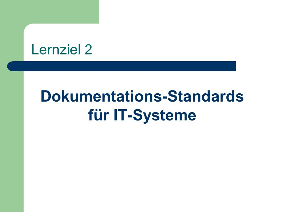 Dokumentations-Standards für IT-Systeme