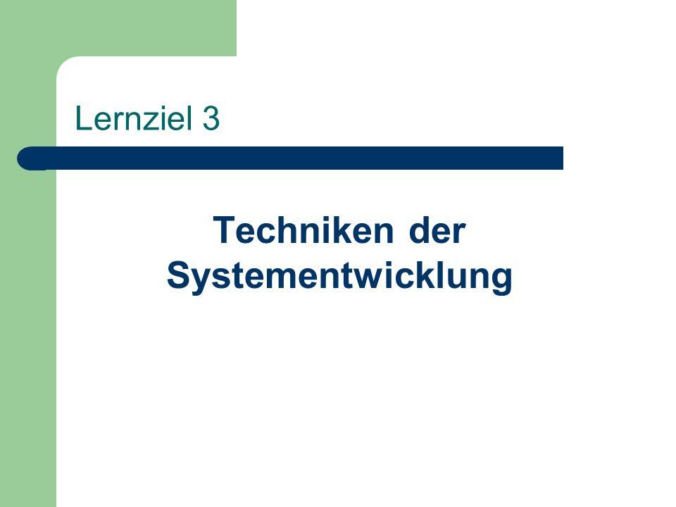 Techniken der Systementwicklung