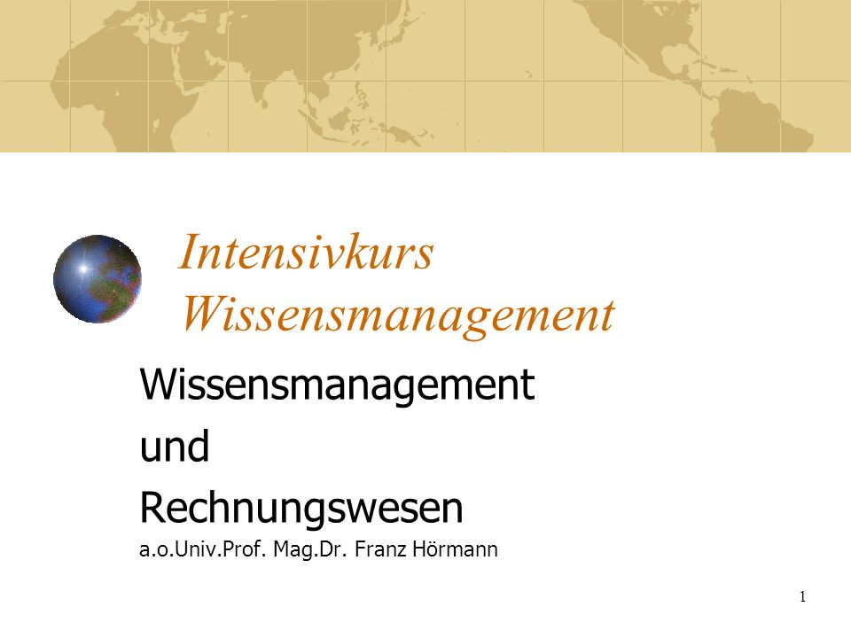 Intensivkurs Wissensmanagement