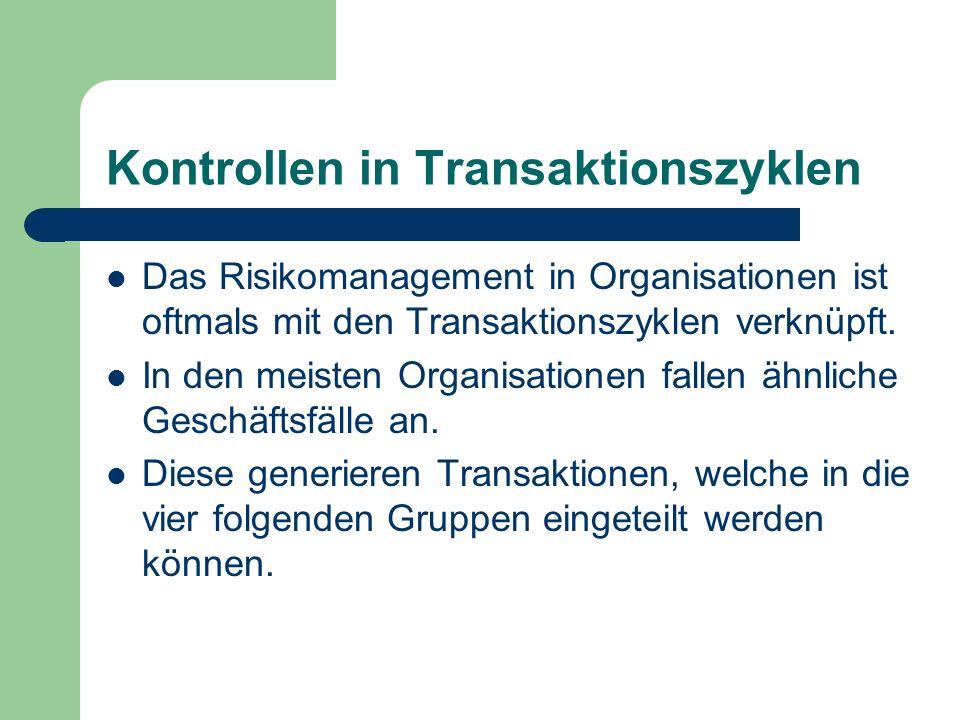 Kontrollen in Transaktionszyklen