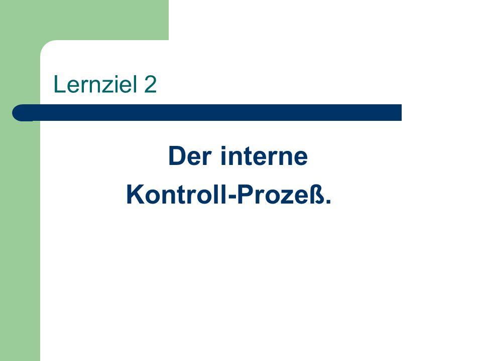 Der interne Kontroll-Prozeß.