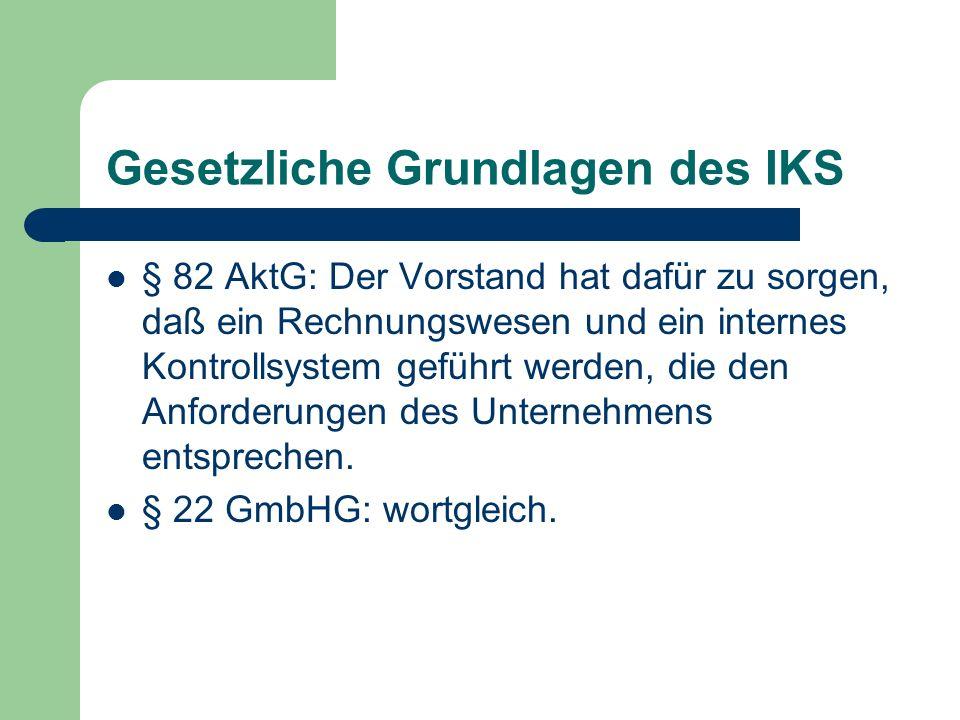 Gesetzliche Grundlagen des IKS