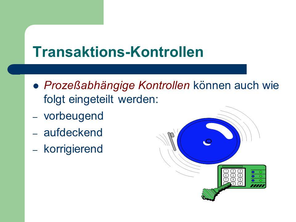 Transaktions-Kontrollen