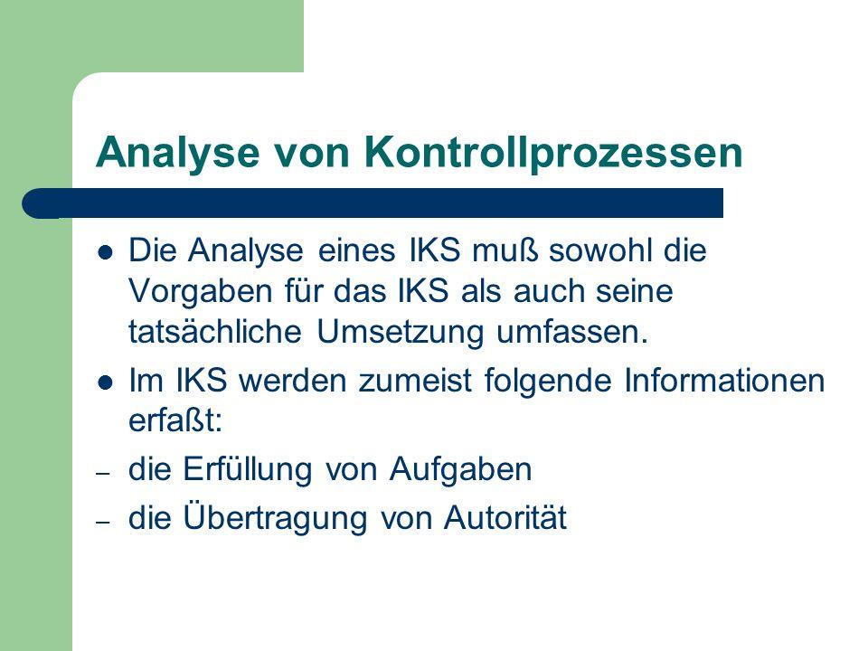 Analyse von Kontrollprozessen