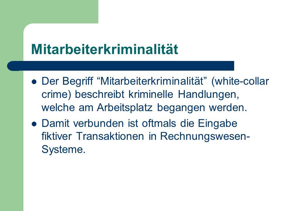 Mitarbeiterkriminalität