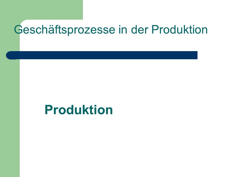 Geschäftsprozesse in der Produktion