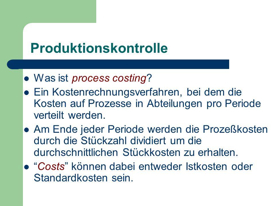 Produktionskontrolle