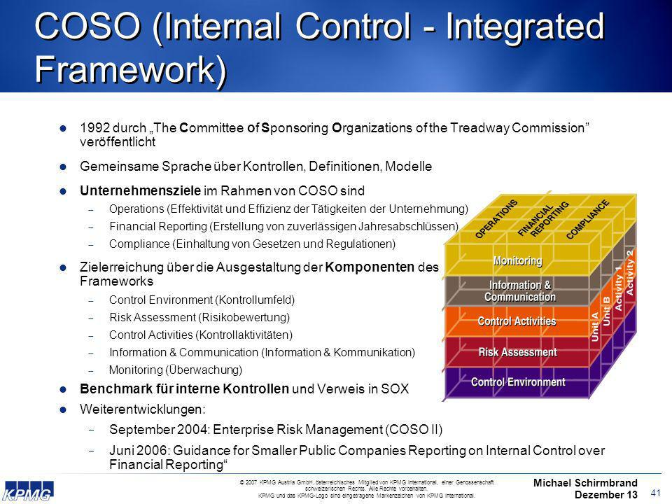 COSO (Internal Control - Integrated Framework)