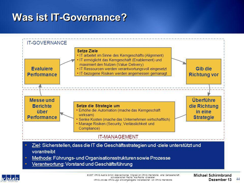 Was ist IT-Governance IT-GOVERNANCE IT-GOVERNANCE