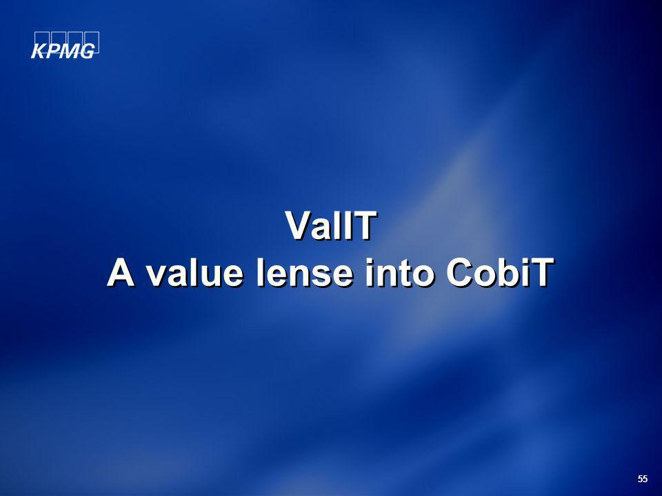 ValIT A value lense into CobiT