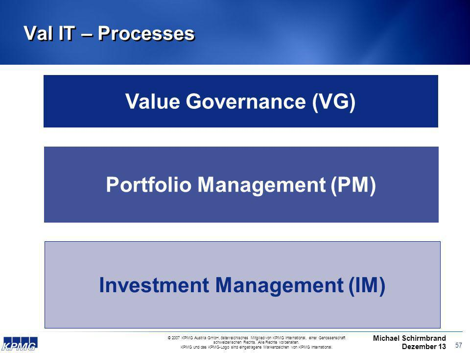 Portfolio Management (PM) Investment Management (IM)