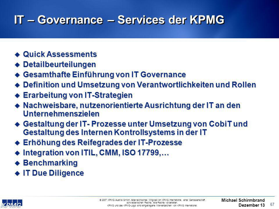 IT – Governance – Services der KPMG