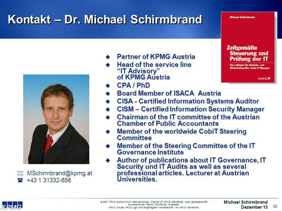 Kontakt – Dr. Michael Schirmbrand