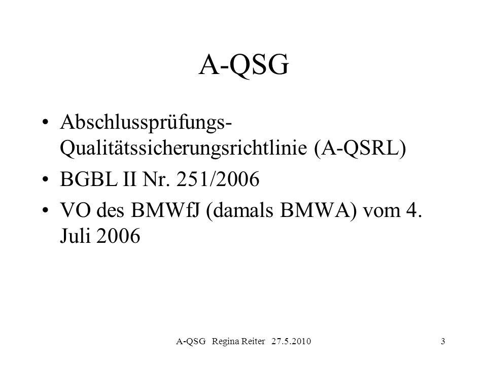A-QSG Abschlussprüfungs- Qualitätssicherungsrichtlinie (A-QSRL)