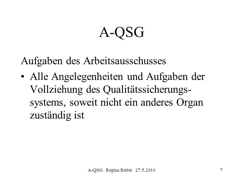 A-QSG Aufgaben des Arbeitsausschusses