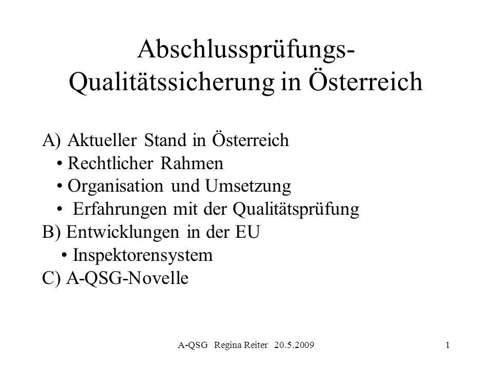 Abschlussprüfungs-Qualitätssicherung in Österreich