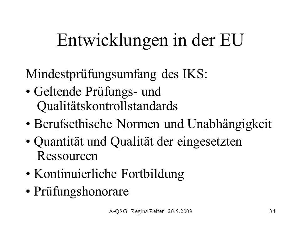 Entwicklungen in der EU