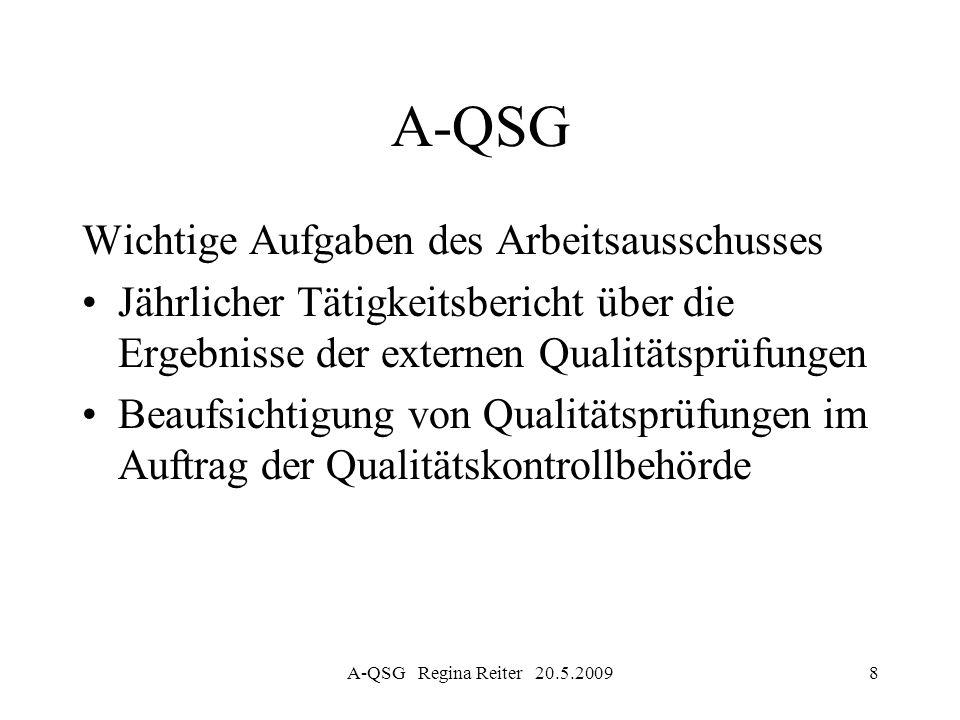 A-QSG Wichtige Aufgaben des Arbeitsausschusses