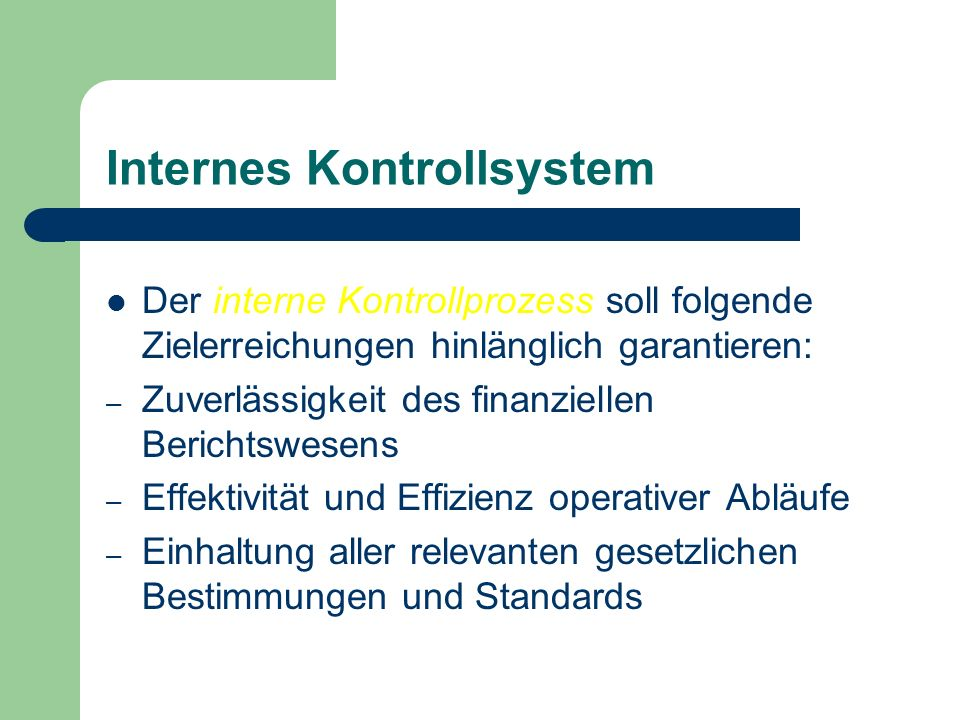 Internes Kontrollsystem