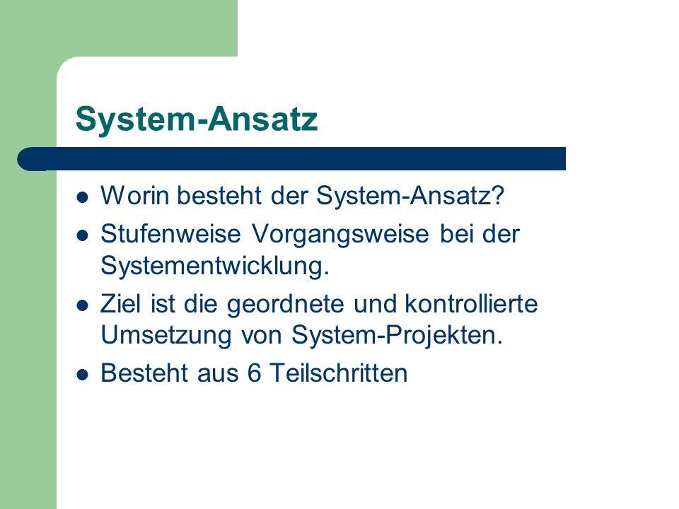 System-Ansatz Worin besteht der System-Ansatz