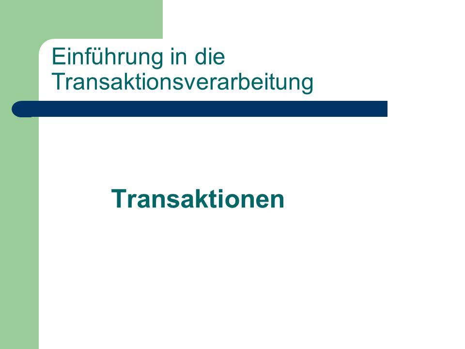 Einführung in die Transaktionsverarbeitung