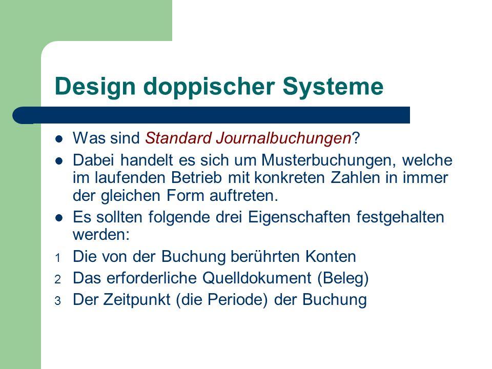 Design doppischer Systeme