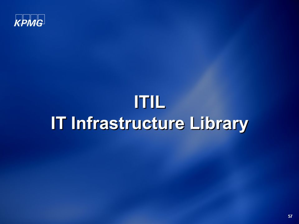 ITIL IT Infrastructure Library
