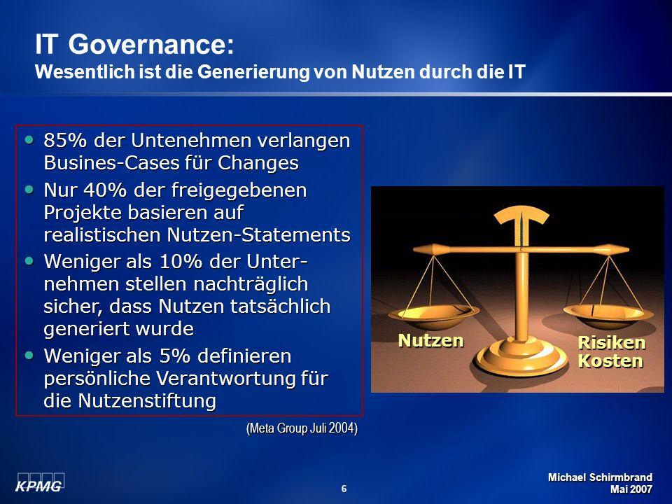 IT Governance: Wesentlich ist die Generierung von Nutzen durch die IT
