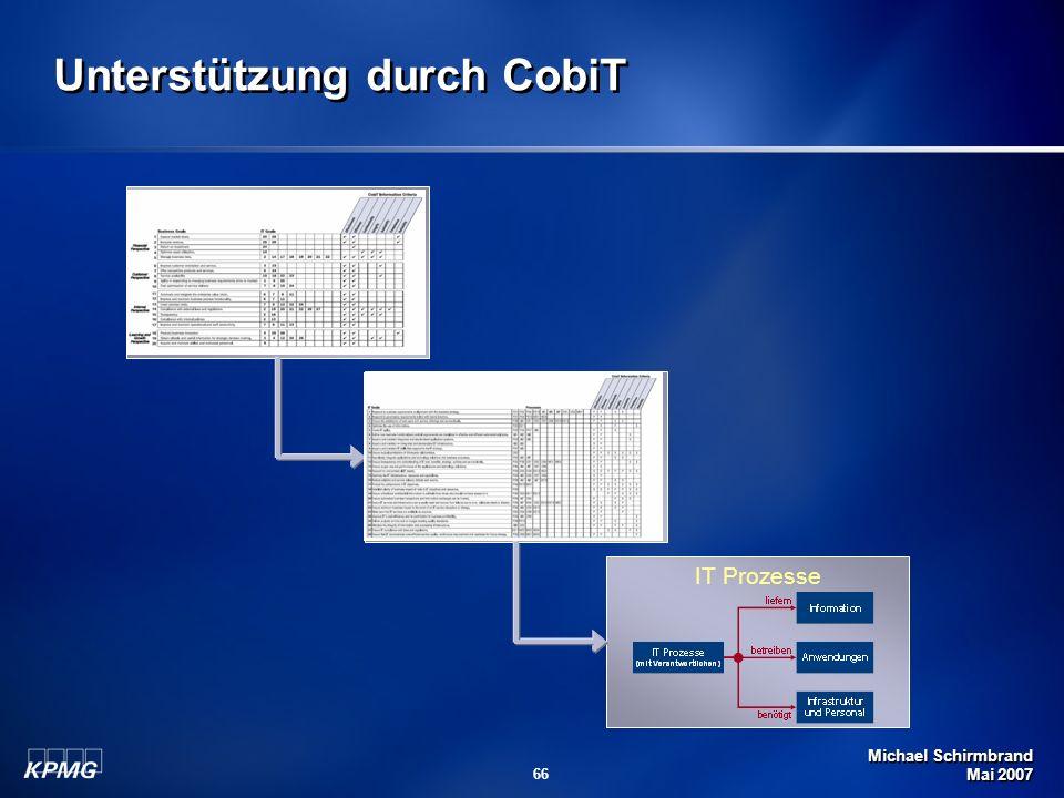 Unterstützung durch CobiT