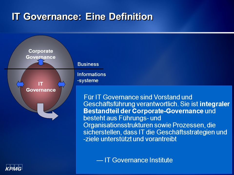 IT Governance: Eine Definition