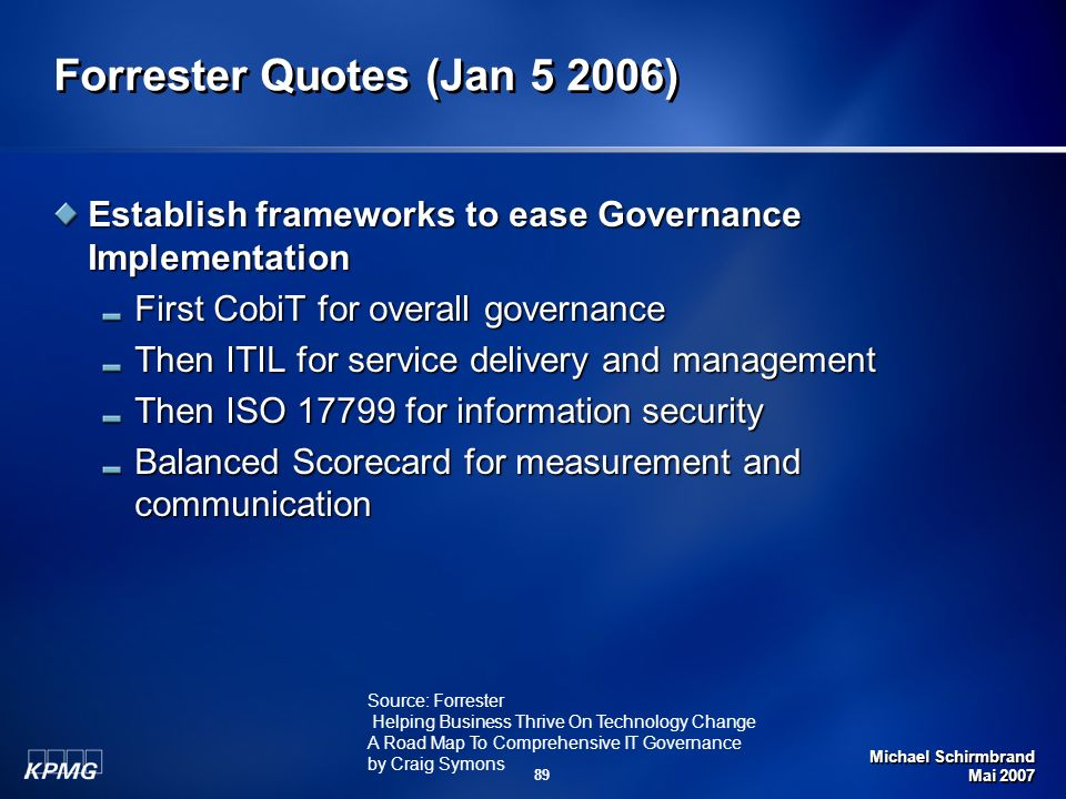 Forrester Quotes (Jan 5 2006)