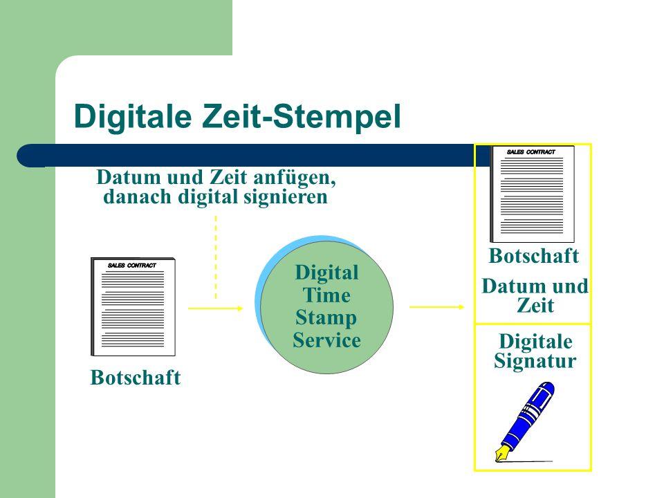 Digitale Zeit-Stempel