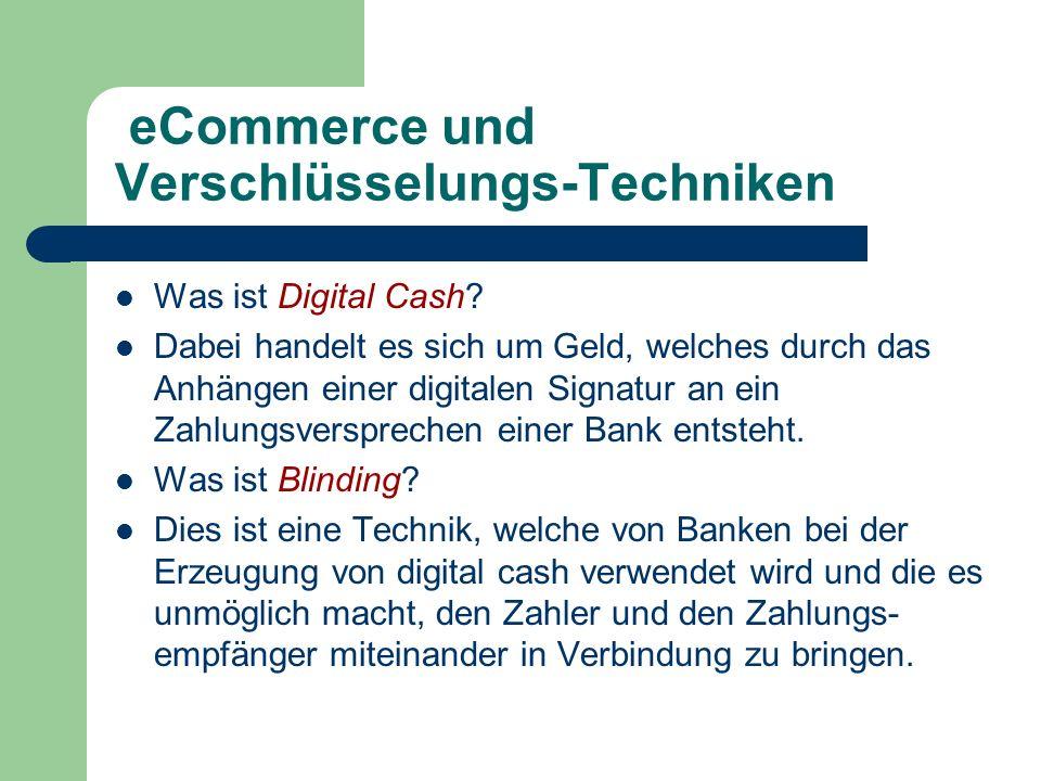 eCommerce und Verschlüsselungs-Techniken