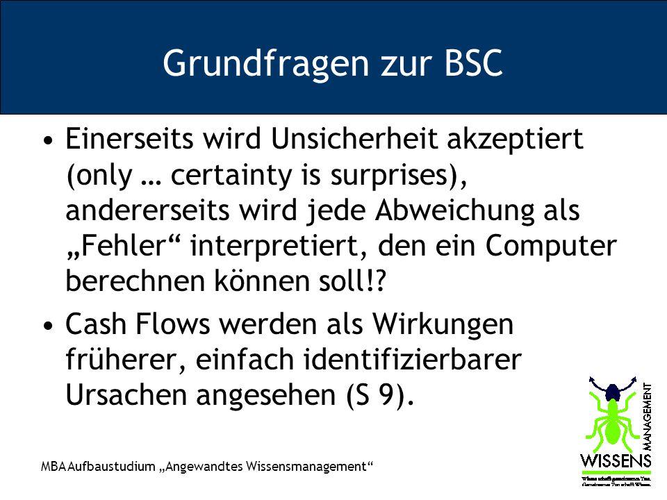 Grundfragen zur BSC